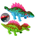 New Electric Dinosaur Walk Talking Toy Cartoon Animal Model Plastic Interactive Toys Flashing Electric Dinosaur In Random Color