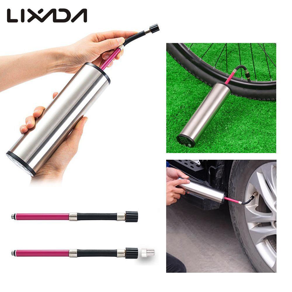 Lixada Mini pompe à vélo automatique 12 V Mini gonfleur d'air électrique avec batterie 150PSI affichage numérique pression des pneus