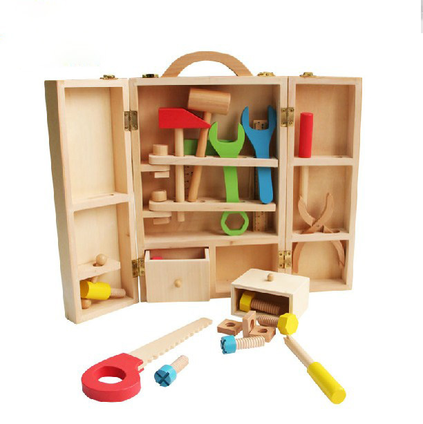 MamimamiHome Baby Hands-On Toys Children Wooden Multi-Function Toolbox Disassembly Montessori Toys Building Blocks mamimamihome baby wooden montessori toys pink sound building blocks children early education situational creativity blocks