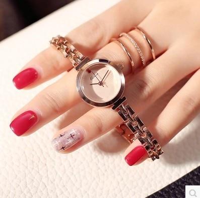 KIMIO Brand Luxury Gold Stainless Steel Business Crystal Ladies Watches Casual Relogio Feminino Quartz Wristwatch For