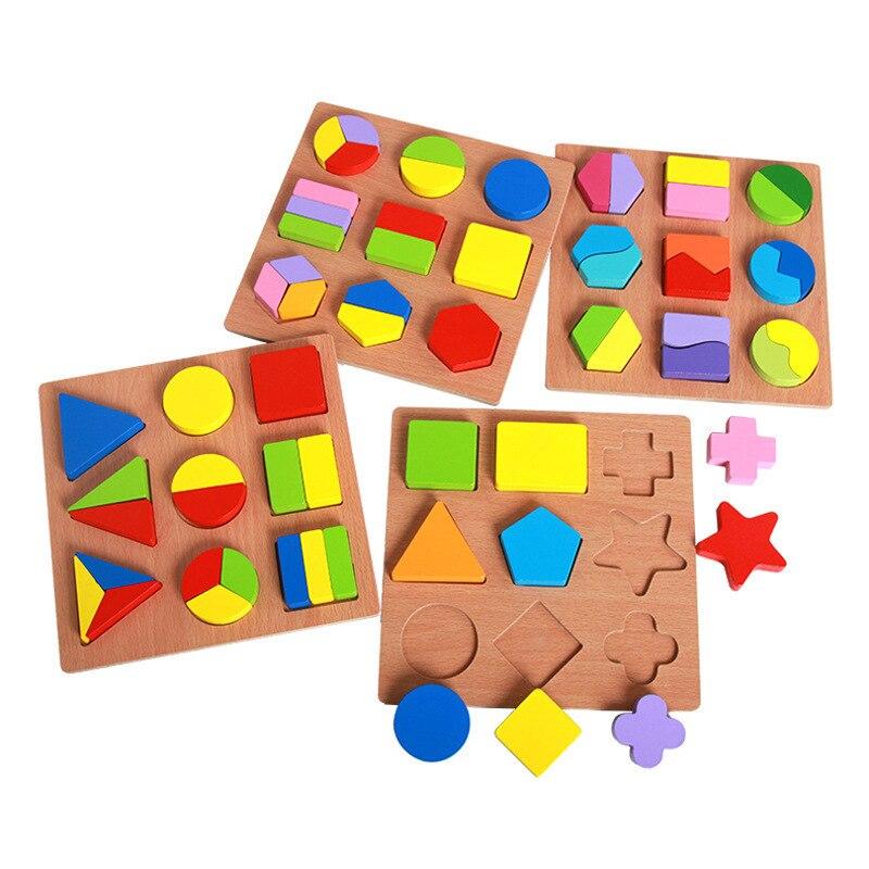 Rätsel & Spiele Holz Spielzeug Baby Geometrische Puzzle Sortierung Bord Lernen Pädagogisches Kleinkind Spielzeug Für Kinder Jigsaw Puzzles Für Kinder Yg0244 Hell In Farbe