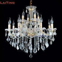 Maria Theresa 12 Arms Clear Crystal Chandelier Lustre Glass Pendant Lamps Foyer Lusters for Dining Room +Free shipping