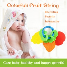 Baby Teether Silicone Fruit Shape Molar Toys New Dental Care Toothbrush Training Toddler Infant 1 Set