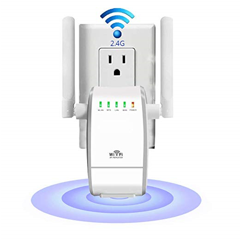 Image 2 - 300Mbps Mini Wireless Wifi Signal Booster Repeater with 2 RJ45 Port Dual Antenna With AP Repeater Router Client Bridge Modes-in Wireless Routers from Computer & Office
