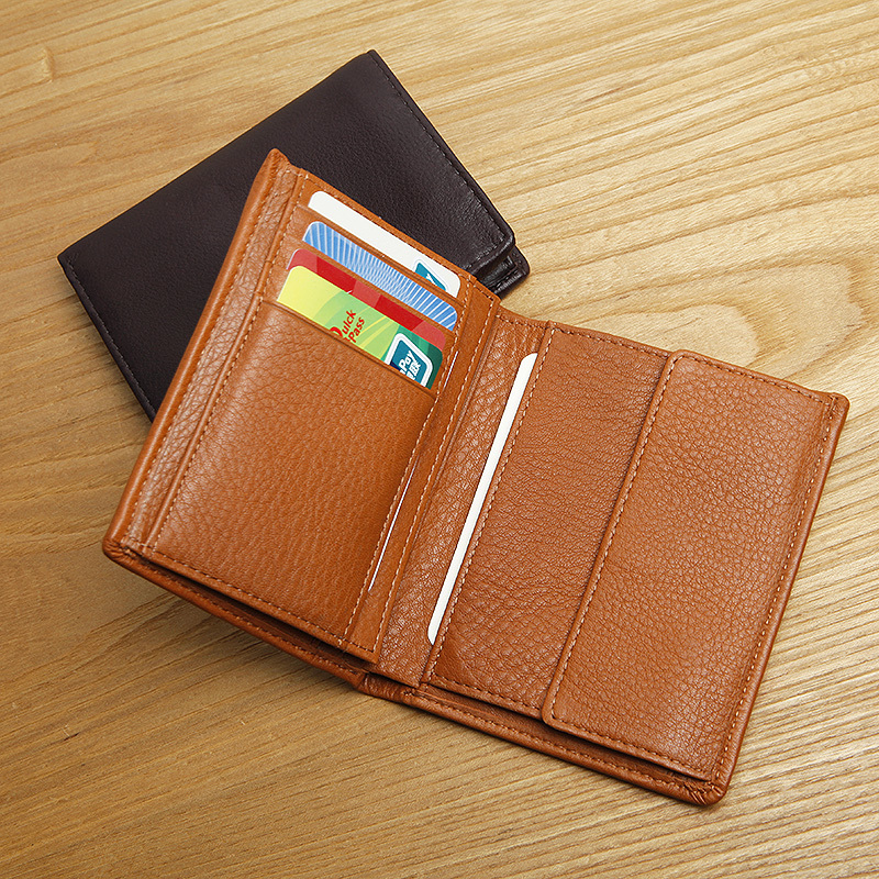 LAN leather men's hight quality wallet first layer cow leather wallet fashion long wallet lan men s wallet ultra thin cow leather long wallet designed simple wallet
