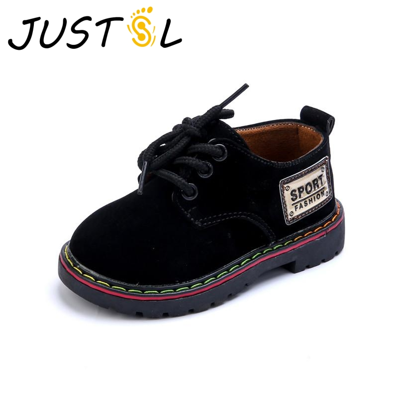 5d1c1bab82 US $9.48 5% OFF|JUSTSL 2017 children's casual shoes British style  comfortable fashion sneakers for boys girls outdoor kids leather shoes-in  Sneakers ...