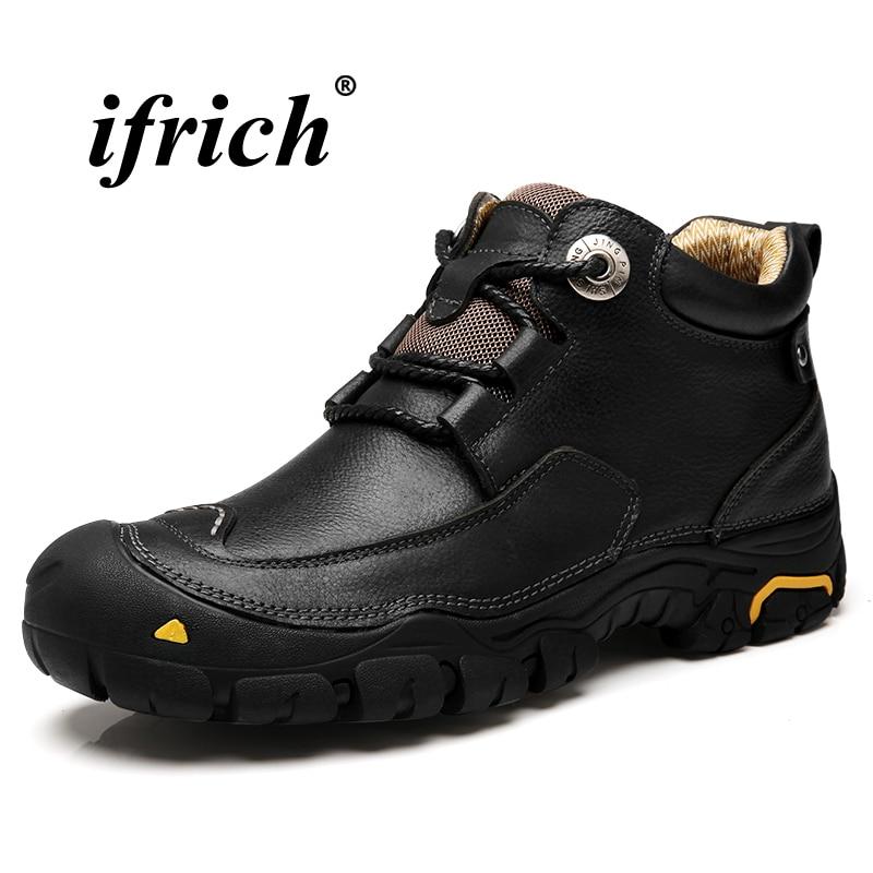 Casual Plein Slip Black brown Anti En Sneakers Bottes Taille Véritable Homme De Cuir 46 Chaussures Grande Marche 38 Noir Air Classique Brun qBn85
