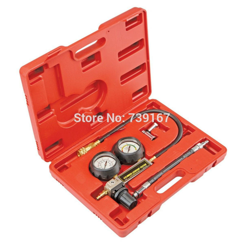 ФОТО TU-21 Petrol Engine Cylinder Compression Leak Detector Tester Gauge Tool Kit ST0199