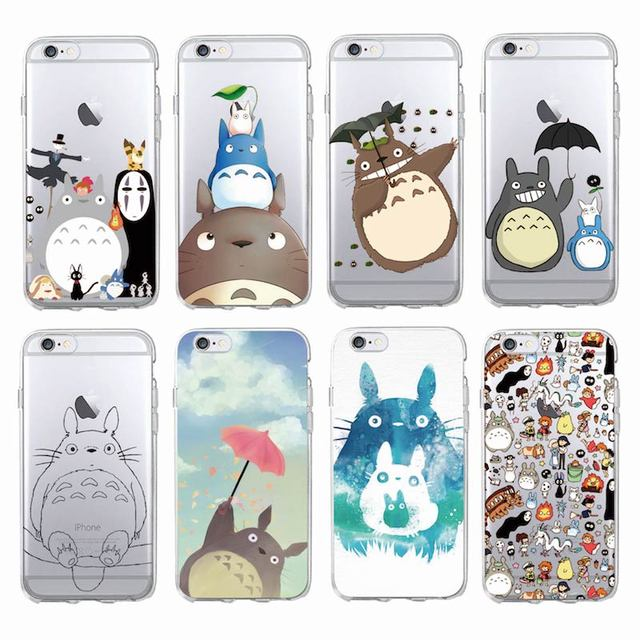 new product ffa76 7676f Cute Totoro Spirited Away Ghibli Miyazaki Anime Kaonashi Soft Phone Case  For iPhone 7 7Plus 6 6S 6Plus 5S SE X XS Max SAMSUNG