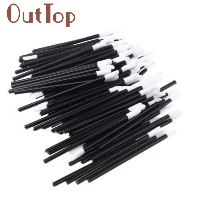 100PCS Disposable MakeUp Lip Brush Lipstick Gloss Wands Applicator Make Up Tool Fashion Hot Pretty New Dec1