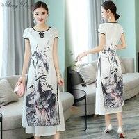 Chinese cheongsam dress ao dai style gown dress chinese elegant qipao long chinese cheongsam dress robe modern cheongsam Q179