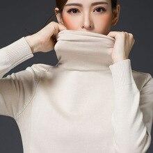Только осенний и зимний свитер с отложным воротником, пуловер, короткий тонкий низ с длинными рукавами, чистый шерстяной свитер