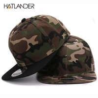 HATLANDER Camouflage snapback cap poliestere in bianco piatto berretto da baseball camo senza ricamo mens cap e cappello per gli uomini e delle donne