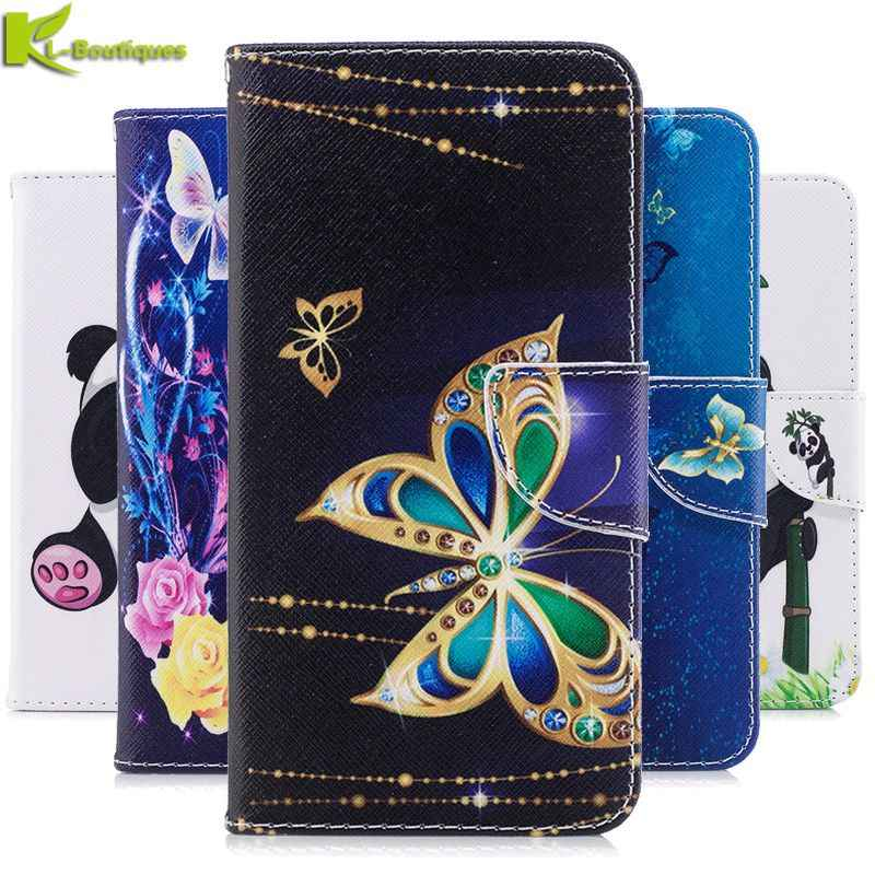 Kehormatan 7X Kasus Sfor Coque Huawei Honor 7X7 X Cover untuk Fundas Huawei Honor7X Kasus Butterfly Dompet flip Leather Case Cover