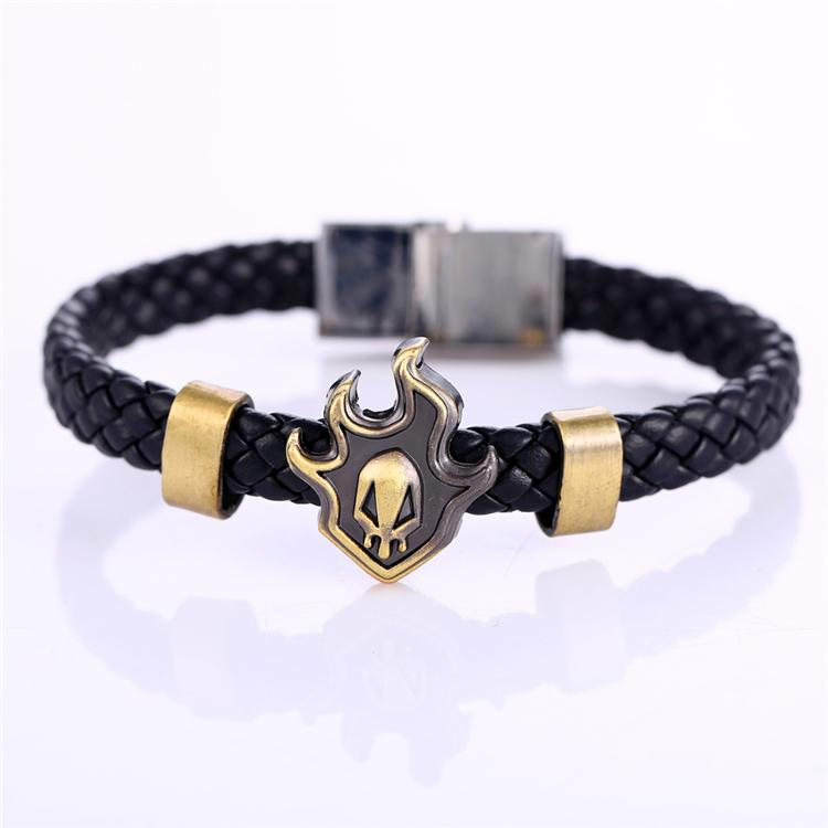Hot Anime Bleach Alloy Bracelets Fire WeaveLeather Bracelet & Bangle Cosplay