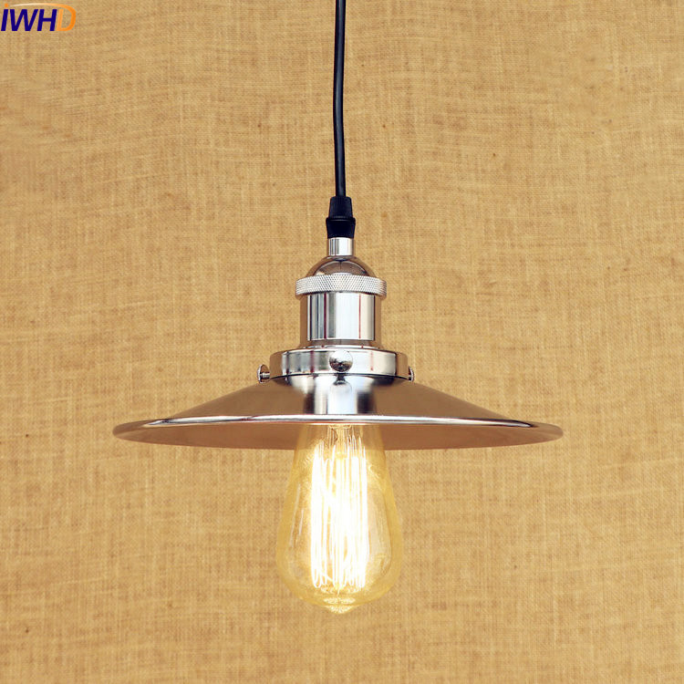 IWHD Silver Rustic Vintage Pendant Light LED Dinning Room Hanging Lights Retro Loft Industrial Lamp Home Lighting Luminaire the royal pine club поло