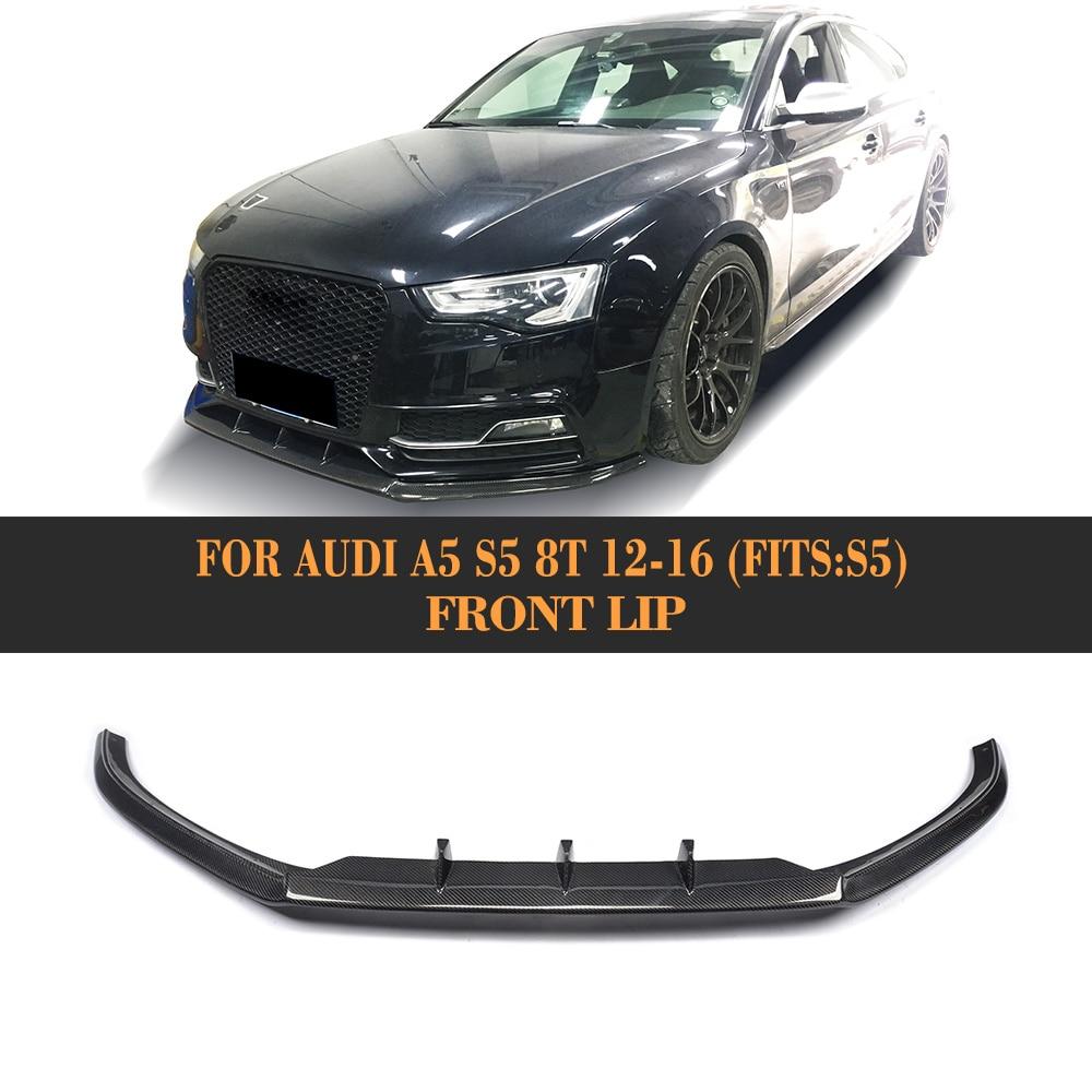Углеродного волокна передний бампер спойлер для Audi A5 Sline S5 8 T Coupe 12 16 подходят A5 Стандартный автомобильные аксессуары