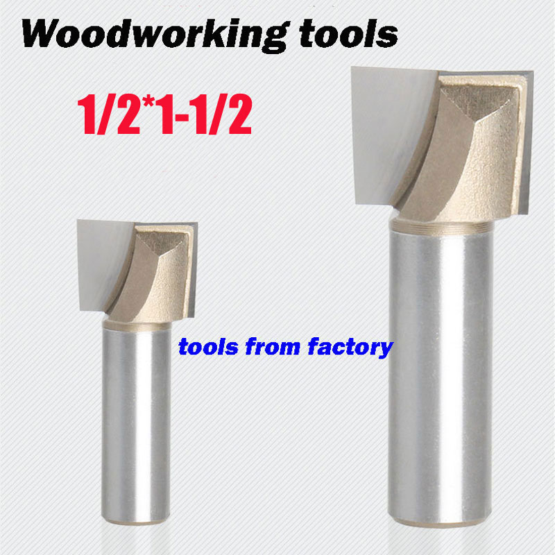 1pc wooden router bits 1/2*1-1/2 CNC woodworking milling cutter woodwork carving tool 1pc wooden router bits 1 2 1 1 2 woodworking carving cutter cnc engraving cutting tools bearing woodwork tool