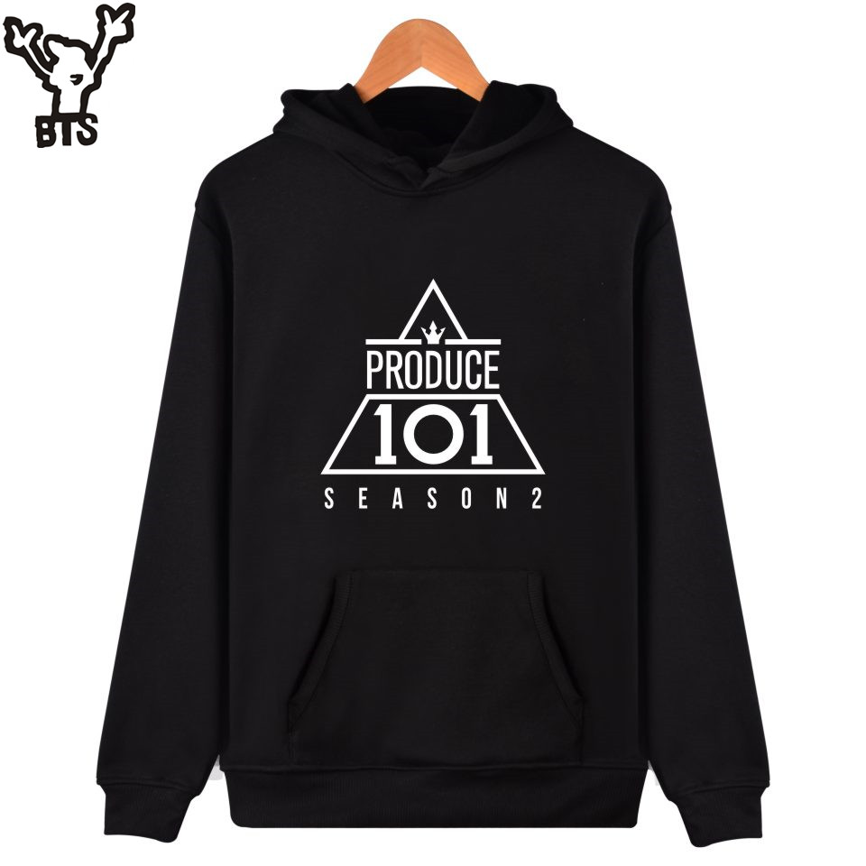 BTS WANNA-ONE Hooded Women Hoodies Sweatshirt Casual Kpop Team Fans Hoodies Women Winter Fashion Hip Hop Funny Female Clothes