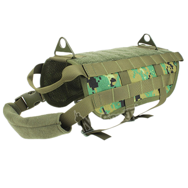 Military Tactical Hunting Vest Dog Training Molle Vest Compact Harness Dog  Clothes Load Bearing Harness SWAT Dog Pet jacket Gear 8600bb39658