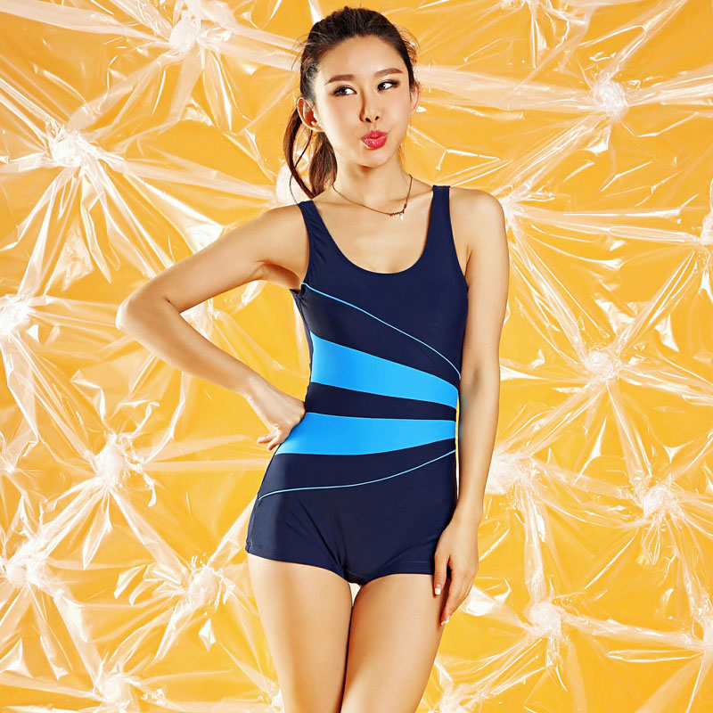 New Sport/Gym Swimming Suit for Women Sexy 1 One Piece Swimsuit Shorts Bodysuit Swimwear Bathing Suits Large Plus Size XXXL swimwear women one piece swimsuit long sleeve plus size sexy black mesh patchwork bodysuit bathing suits cut out swimming suits