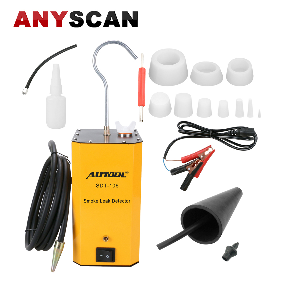 AUTOOL SDT-106 12V Car Pipe Systems Smoke Leak Detector Exhaust Smoke Meter Automotive Diagnostic Tester Tool