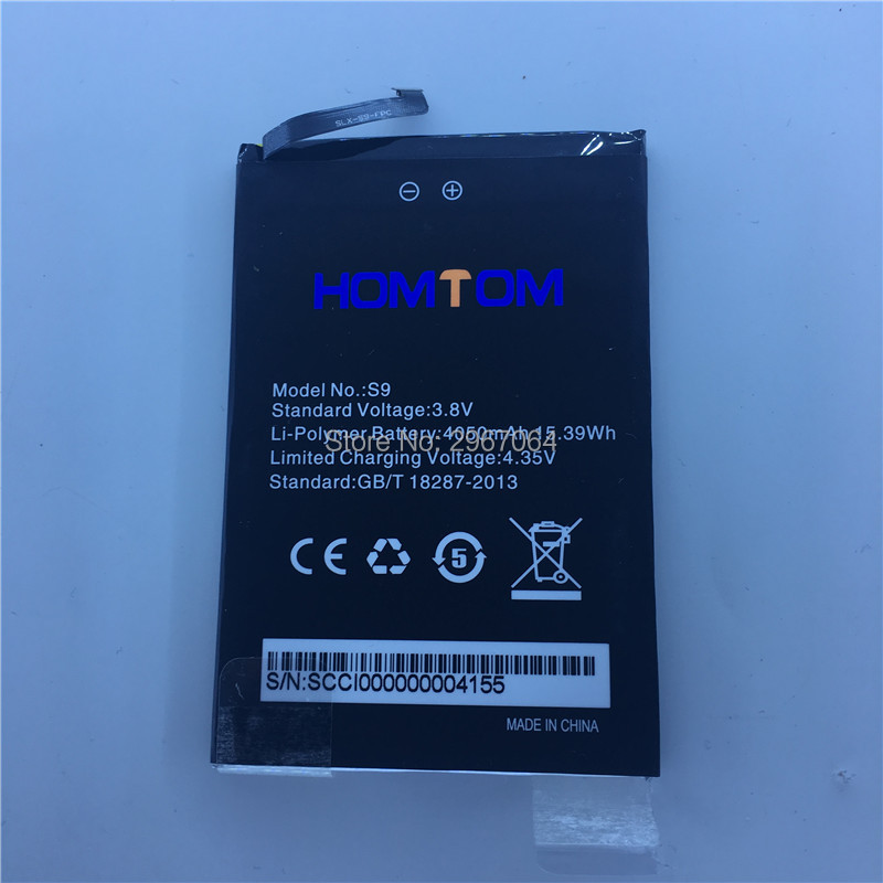 Mobile phone battery HOMTOM S9 plus battery 4050mAh Long standby time 5.99inch MTK6750T HOMTOM Mobile Accessories