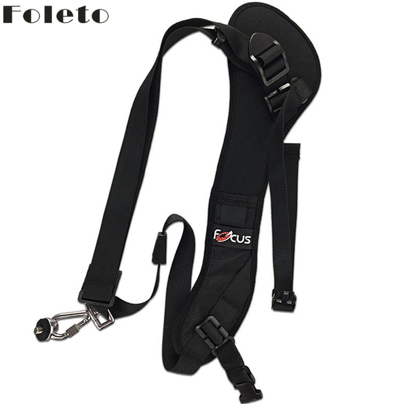 цена на Foleto Focus F1 Quick Rapid Camera Single Shoulder Sling Black Belt Strap For canon nikon DSLR 7D 5D Mark II D800 A77 60D