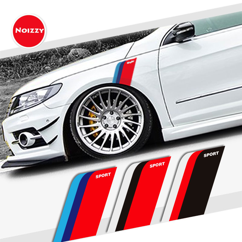 Noizzy Sport Racing Stripes for Cars Sticker Fender Auto Decal Vinyl for BMW Audi Honda Toyota Mitsubishi Seat Lada Car Styling|Car Stickers|Automobiles & Motorcycles - title=