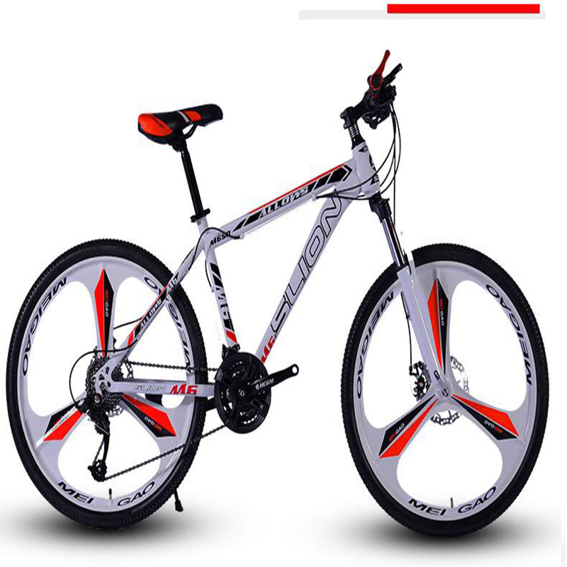 Three Knife One Round Mountain Bike 26 Inch Adult 30 Speed Double Disc Brakes Racing Mountain Bicycle