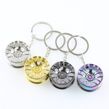 Wheel Rim Model Keychain High Quality Car Key Chain Llaveros Hombre Creative Hub Design Metal Key Ring Cool Chic Gifts For Man image