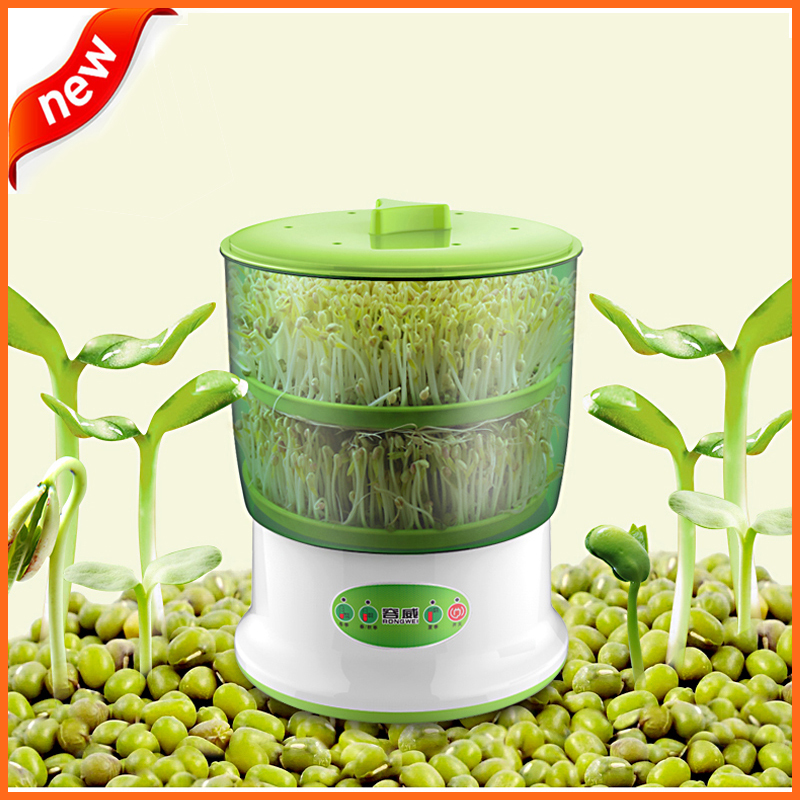 Bean Sprout Machine 220V Intelligens Hjemmebruk Automatisk Bean Sprouts Machine med stor kapasitet