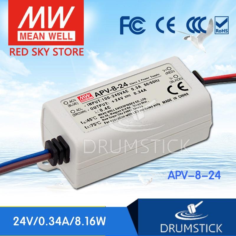 (Solo 11.11) Best-vendita MEAN WELL APV-8-24 (12 Pcs) 24 V 0.34A meanwell APV-8 24 V 8.16 W Singola Uscita LED di Alimentazione Elettrica di Commutazione(Solo 11.11) Best-vendita MEAN WELL APV-8-24 (12 Pcs) 24 V 0.34A meanwell APV-8 24 V 8.16 W Singola Uscita LED di Alimentazione Elettrica di Commutazione