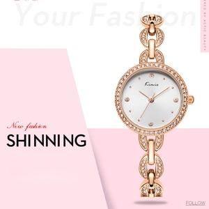 Image 2 - Kimio marca pequena dial feminino pulseira relógio 2018 luxo diamante quartzo relógios senhoras vestido de cristal relógio de pulso reloj mujer