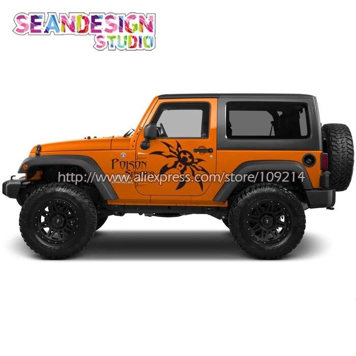 Untuk jeep wrangler rubicon sahara spyder 4x4 off road suv roda van truk decal stiker tahan air z24 di mobil stiker dari mobil sepeda motor aliexpress com
