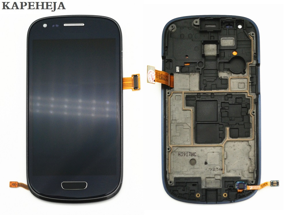 Super AMOLED LCD Display For Samsung Galaxy S3 mini I8190 I8195 I8200 LCD Display Touch Screen Digitizer Assembly with Frame image