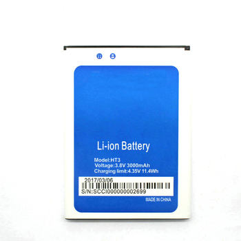 New 3000mAh HT 3 Replacement Battery For Homtom HT3 HT3 Pro Bateria Batterie Baterij Cell Mobile Phone Batteries image