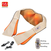 KIKI Home Car Electrical Body Massager Relaxation Massage U Shape Neck Back Shoulder Shiatsu Infrared 3D Kneading Massager