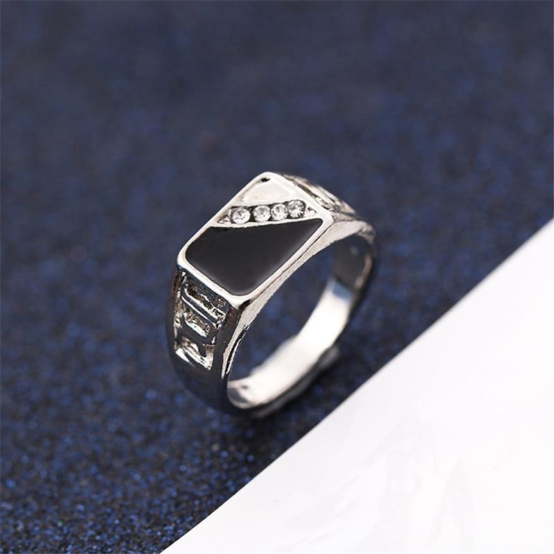 CC Rings For Men Classic Luxury Square Fashion Dripping Oil Ring Cubic Zirconia Bridegroom Wedding Engagement Bijoux CC2131 5