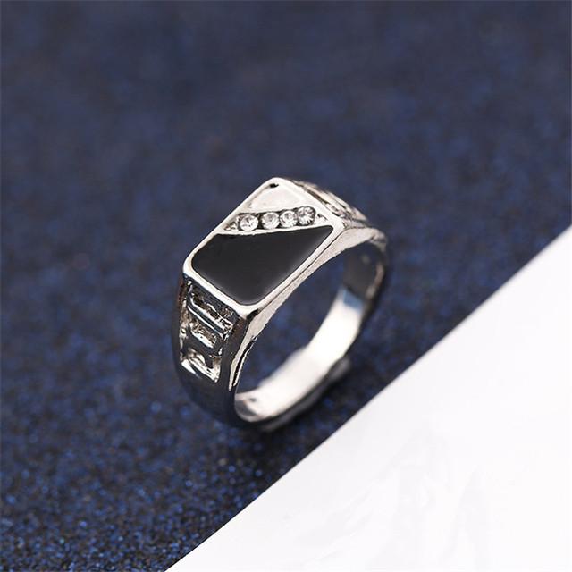 CC Rings For Men Classic Luxury Square Fashion Dripping Oil Ring Cubic Zirconia Bridegroom Wedding Engagement Bijoux CC2131