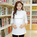 Pregnant Lace Maternity Tops Autumn Cotton Pregnancy Basic Shirt Maternidade Clothing Full Sleeve Tee Clothes For Pregnant Women
