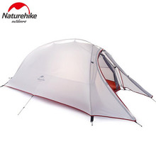 NatureHike 1 Person Camping Tent Double-Layer Waterproof Dome Tents Couple Beach Hiking With Mat
