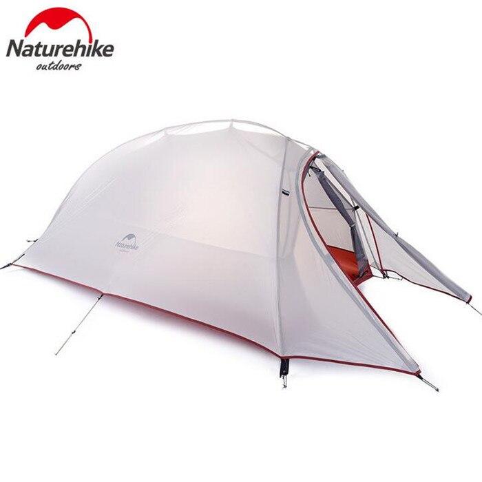 Naturehike Tente 20D Silicone Tissu Ultra-Léger 1 Personne Double Couches En Aluminium Tige de Camping Tente 4 Saison Avec Tapis