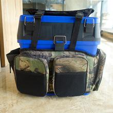 Kotak Memancing Memancing Rucksack Carrier Harness Converter Overcoat Fishing Backpack Tackle Bag Camo