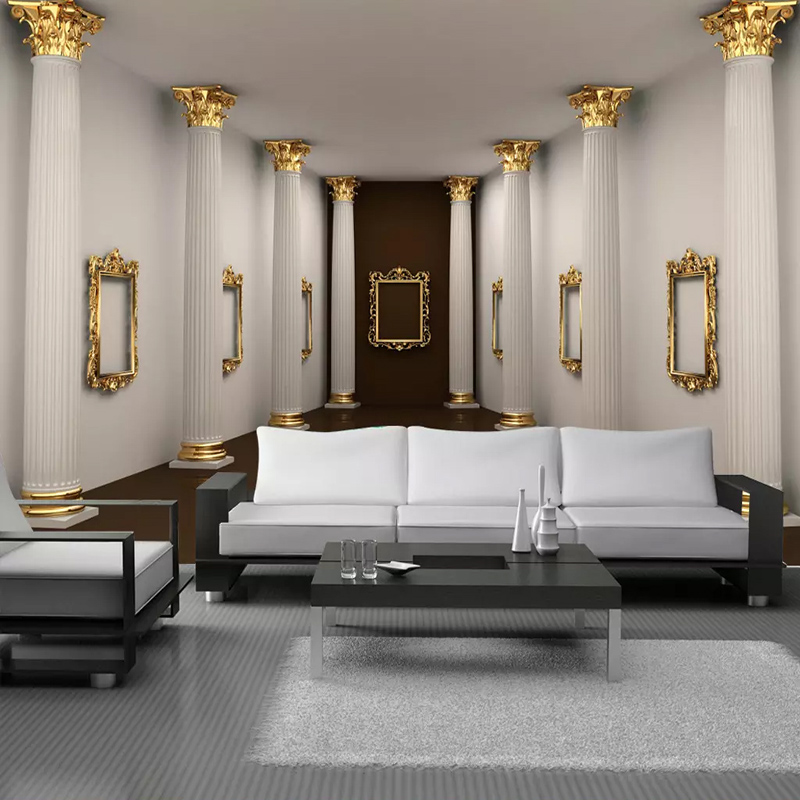 3D Wallpaper European Style Rome Column Gallery Exhibition Hall Photo Wall Mural Living Room TV Sofa Background Wall Covering 3D