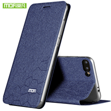 Mofi For Huawei honor 10 case cover honor V10 case leather silicon TPU back thin metal cover Case for Huawei honor note 10 Shell