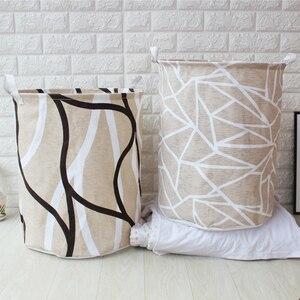 Image 3 - אמנות בד מתקפל גיאומטריה בגדים מלוכלכים צעצועי דלי אחסון בגדים מלוכלכים כביסה סל עבור ביתי אחסון סל