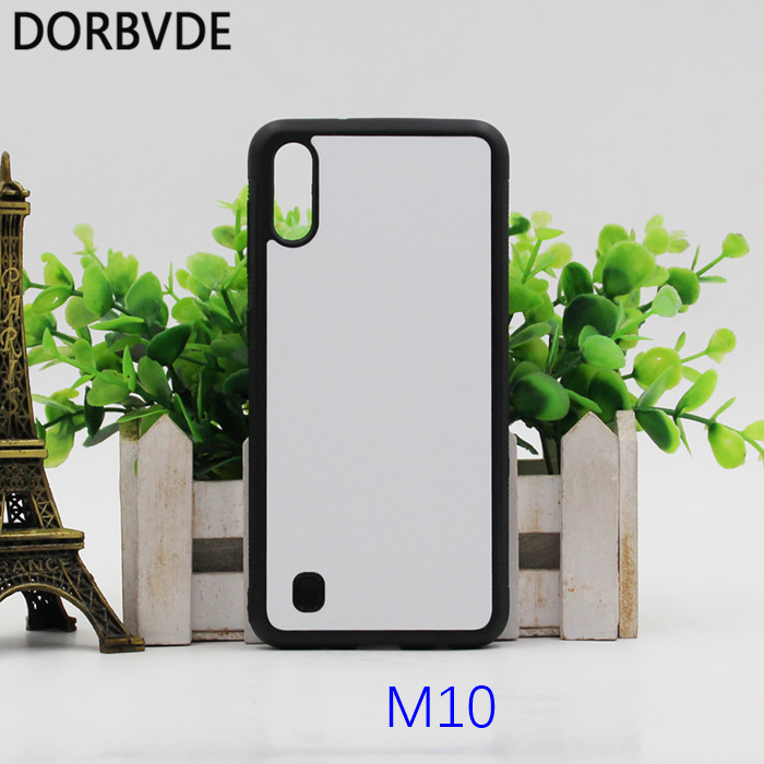 2D Sublimation Blank TPU PC rubber Case for Samsung M10 M20 M30 M40 M60 with Aluminum