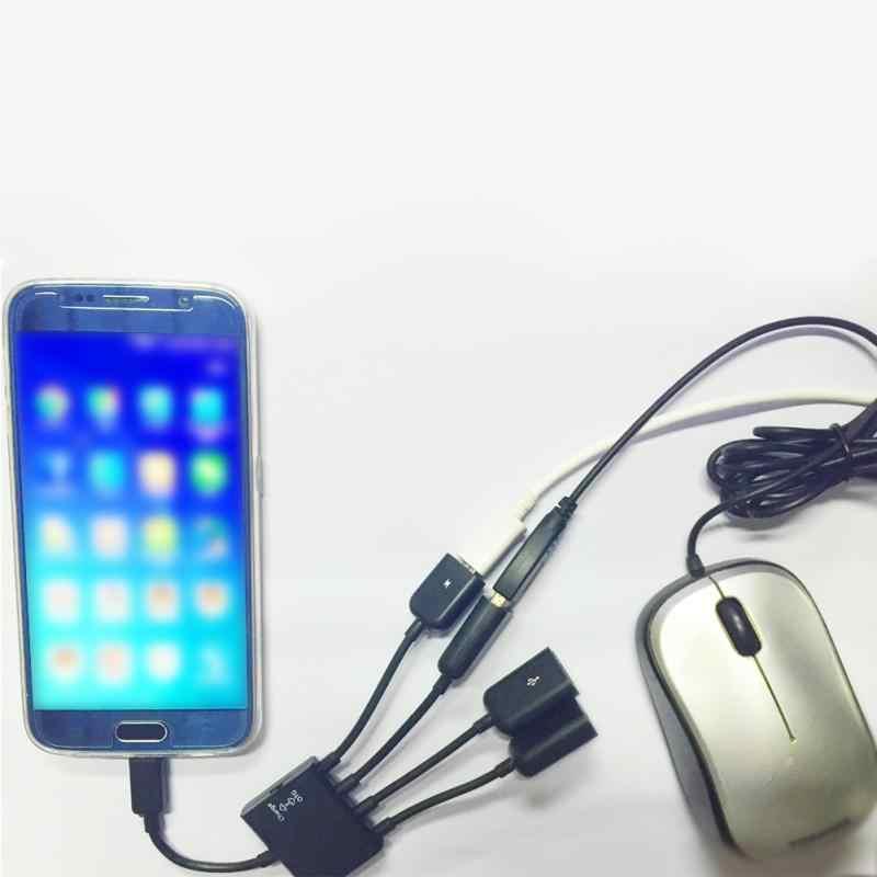 Alta calidad 4 puertos de alimentación concentrador cables OTG conector Spliter Micro USB para tableta ordenador Smartphone #906 nuevo