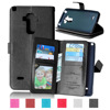 Luxury Multi Function Wallet Case For LG G4 Stylus PU Leather Flip Cover With Card Slots